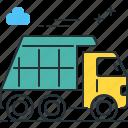 dump, dump truck, garbage, garbage truck, truck icon