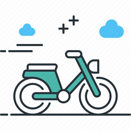 bike, moped, transport, vehicle icon
