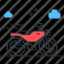 bike, motobike, motor, motorcycle, transport icon
