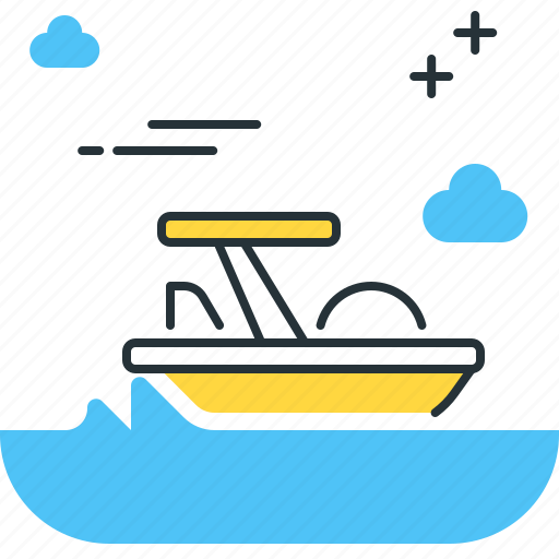 pedalo, transport, water, water bicycle icon