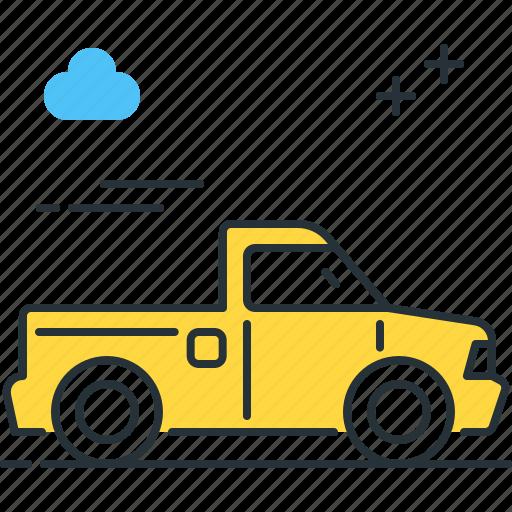 car, pickup, pickup truck, truck, vehicle icon
