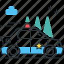 car, cruiser, police, police car, police cruiser icon