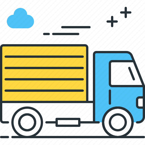 delivery, lorry, shipping, truck icon