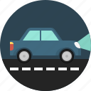 car, drive, lights, night, private, transport, vehicle icon