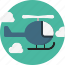 chopper, helicopter, journey, military, rotorcraft, transport, whirlybird icon