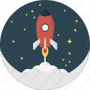 carrier, fly, launch, rocket, space, space flight, travel icon