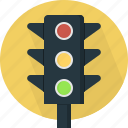 intersection, lamp, light, ready, stop, traffic, warning icon