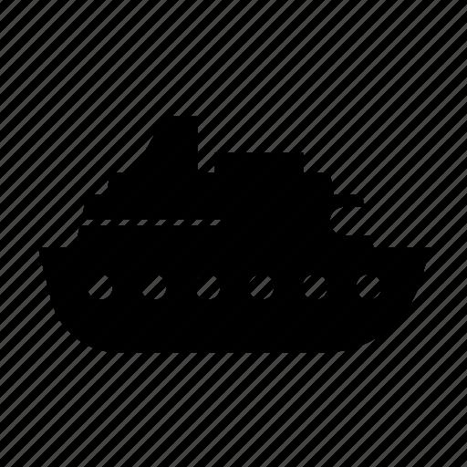 boat, cruise, fill, sea, ship, transport, travel icon