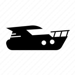 fill, motorboat, transport icon