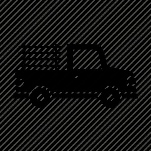 car, fill, pickup, transport, transportation, truck, vehicle icon