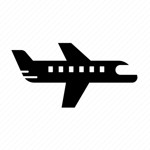 aircraft, airline, fill, flight, plane, transport, traveling icon