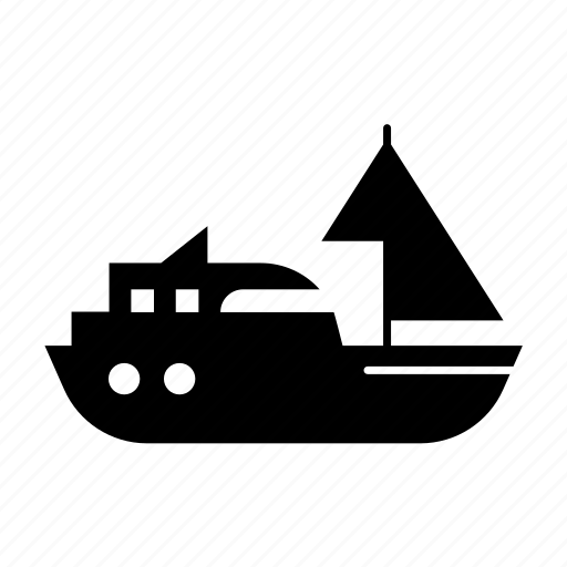 fill, sailingboat, sea, ship, sport, transport, travel icon