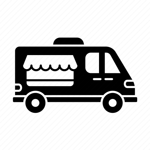 car, delivery, fill, icecream car, transport, van shop, vanshop, vehicle icon