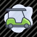transport, cart, golf, vehicle icon