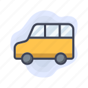 transport, mini, car, vehicle, van icon