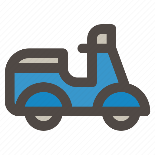 Motorcycle, scooter, transportation, vehicle, vespa icon - Download on Iconfinder