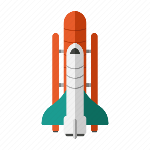 exploration, pioneer, science, space shuttle, travel icon