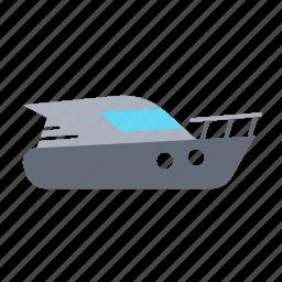 motorboat, sea, ship, speedboat, transport, travel icon