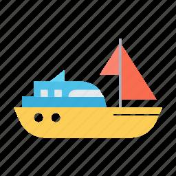 sailingboat, sea, ship, sport, transport, travel icon