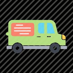 advertisement, delivery, transport, van, van advertising, vanads, vehicle icon