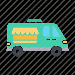 car, delivery, icecream car, transport, van shop, vanshop, vehicle icon