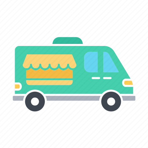 car, delivery, icecream car, transport, van shop, vanshop, vehicle icon