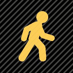 man, on feet, on the way, sign, transport, walk icon