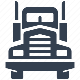 business, cars, delivery, front view, logistic, lorry, shipping, traffic, transport, transportation, travel, truck, vehicle icon