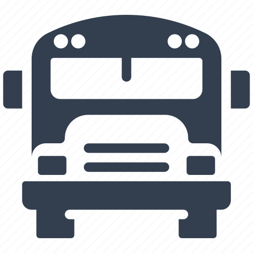 auto, bus, cars, children, education, public, school, transportation, vehicle icon