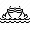 boat, cockboat, kayak, marine, pinnace, transport icon