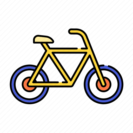 bicycle, bike, color, lineal, sport, transport, transportation, travel icon