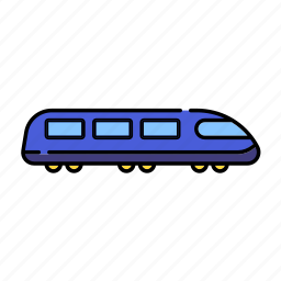 color, electrictrain, lineal, metro, train, transport, transportation, travel icon