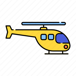 aircraft, color, flight, fly, helicopter, lineal, transport, travel icon