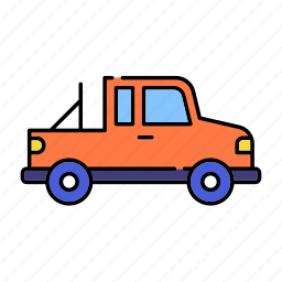 color, fourwheels, jeep, lineal, offroad, transport, vehicle icon