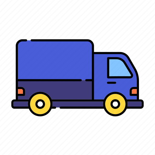 color, delivery, lineal, lorry, transport, transportation, truck, vehicle icon
