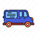 advertisement, color, delivery, lineal, transport, van, van advertising, vanads, vehicle icon