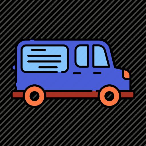 advertisement, color, delivery, lineal, transport, van, van advertising, vanads, vehicle icon