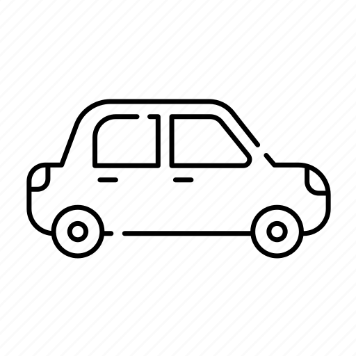 car, familycar, lineal, on road, transport, travel, vehicle icon