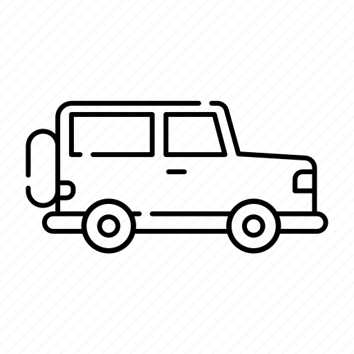 fourwheels, jeep, lineal, offroad, offroad02, transport, vehicle icon