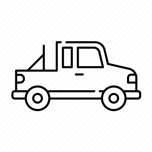 fourwheels, jeep, lineal, offroad, transport, vehicle icon