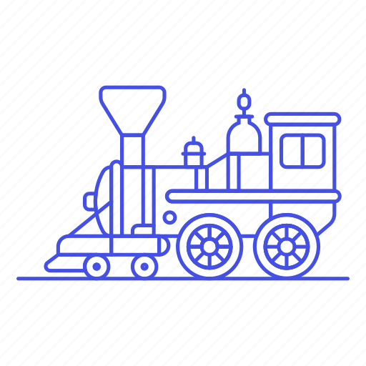 1, engine, land, railroad, railway, steam, track, train, transport, transportation icon