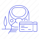 bullet, high, rail, railroad, railway, speed, ticket, track, train, transport, transportation icon