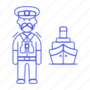 1, captain, ferry, fluvial, male, maritime, ship, transportation, vessel, waterborne, watercraft icon
