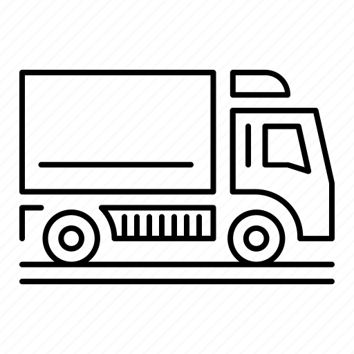 dump, side view, transportation, truck, vehicle icon