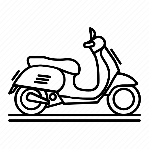 bike, matic, motorcycle, scooter, transportation, vehicle icon