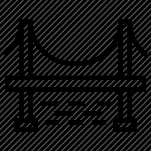bridge, road, transportation icon