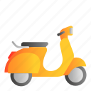 motorcycle, transportation, vehicle, vespa