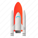 rocket, transportation, vehicle