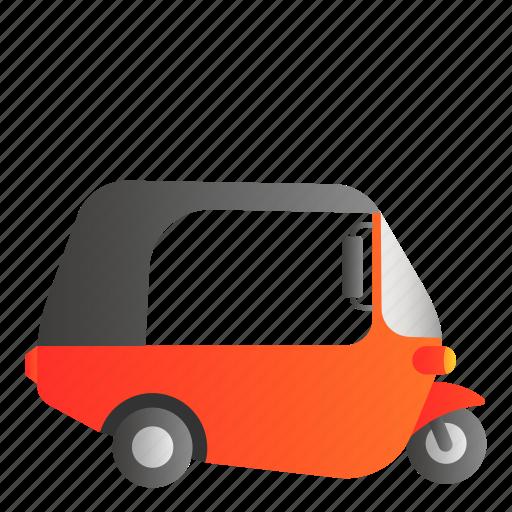 bajaj, transportation, vehicle icon