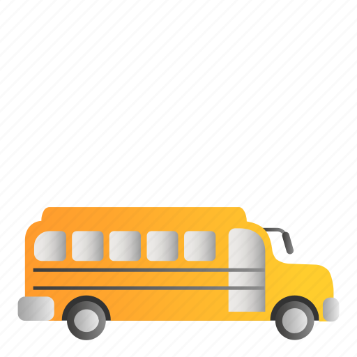 bus, busschool, school, transportation icon